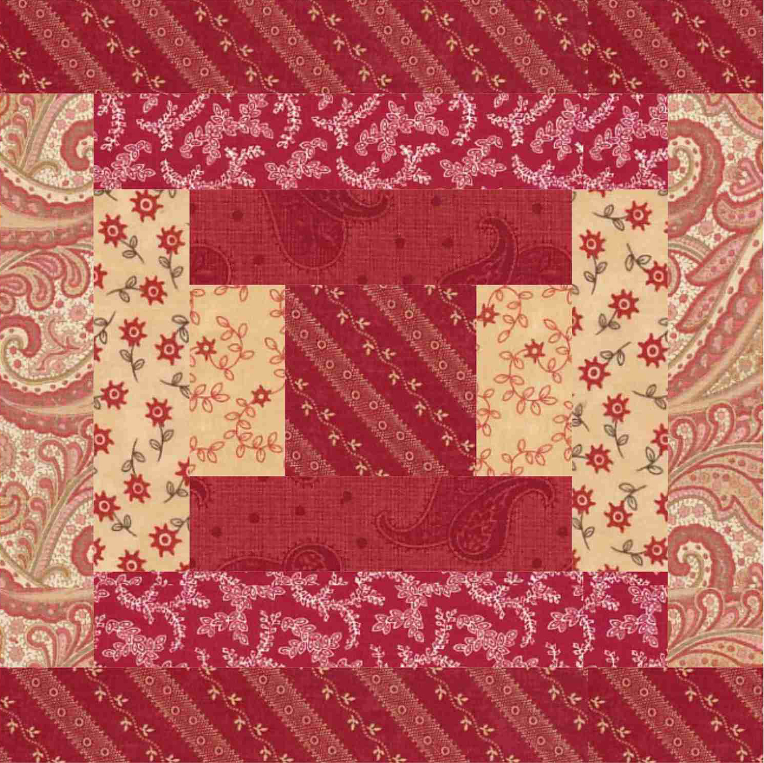 A Courthouse Steps Quilt Block