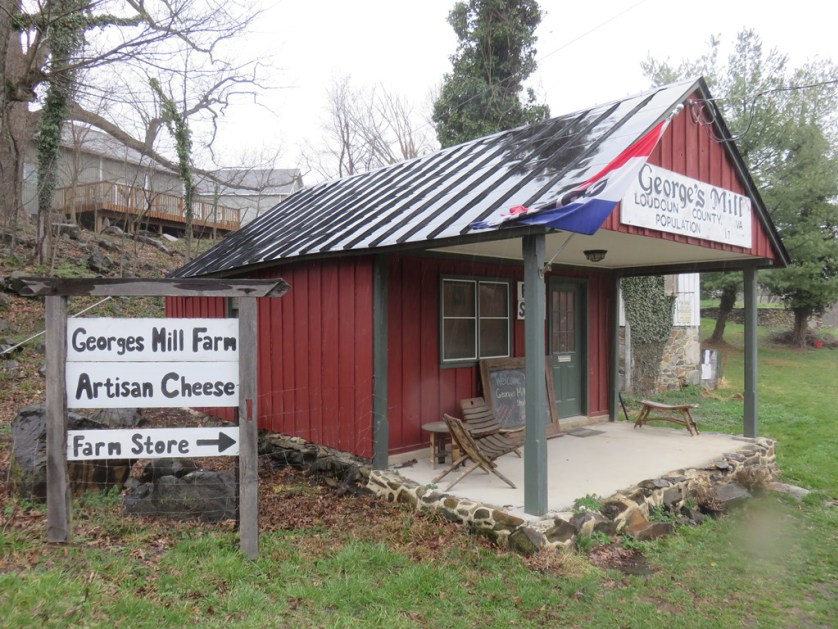 George's Mill Farm Store, where visitors can purchase their award-winning cheeses
