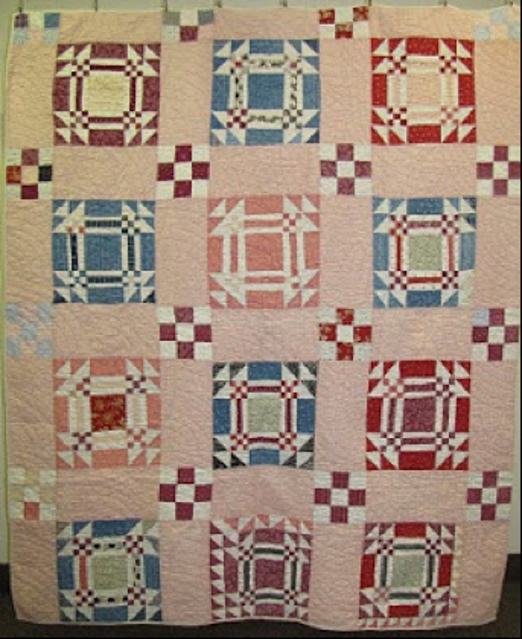 Goose in the Pond quilt, circa 1910