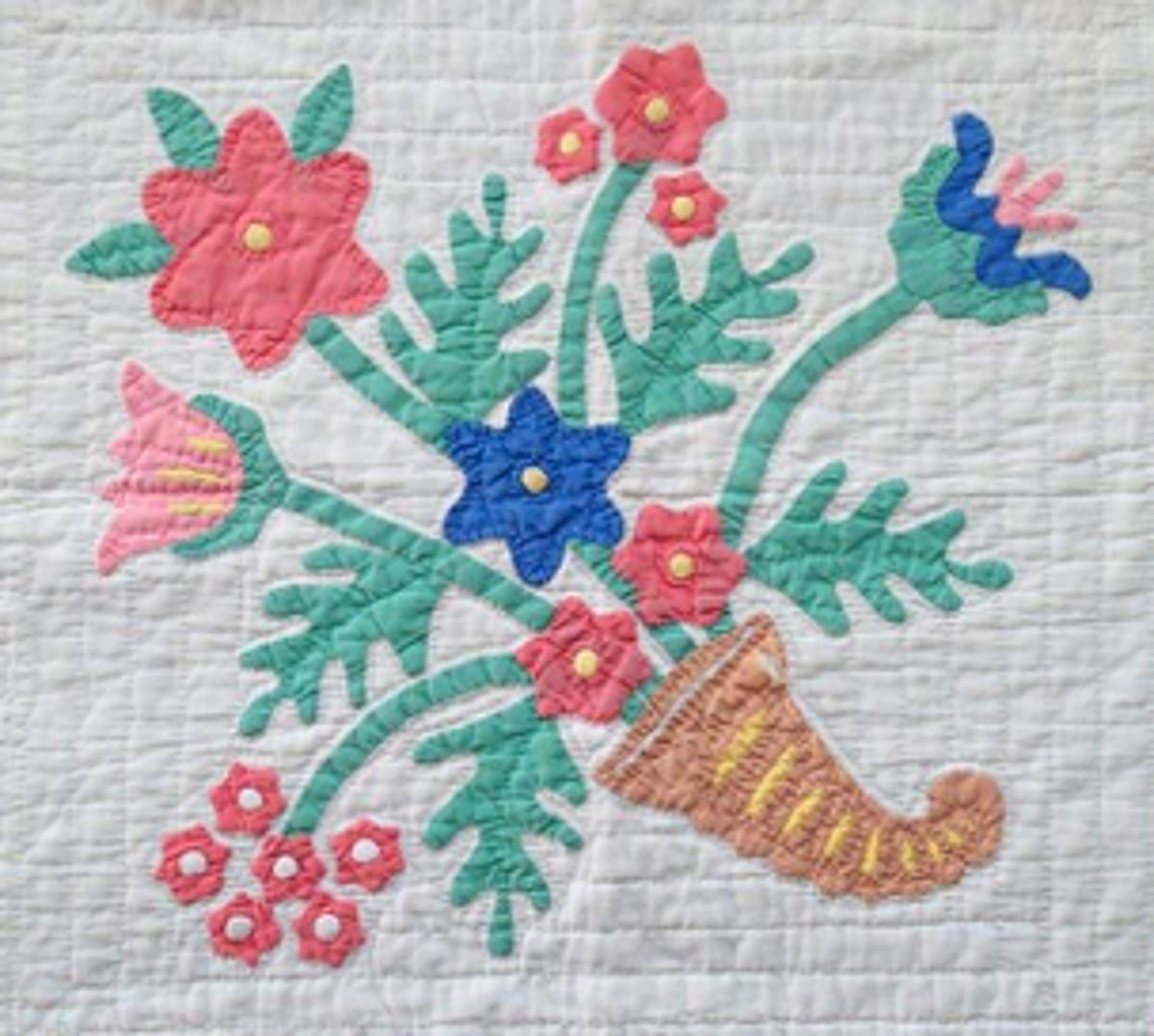 A Horn Of Plenty quilted applique