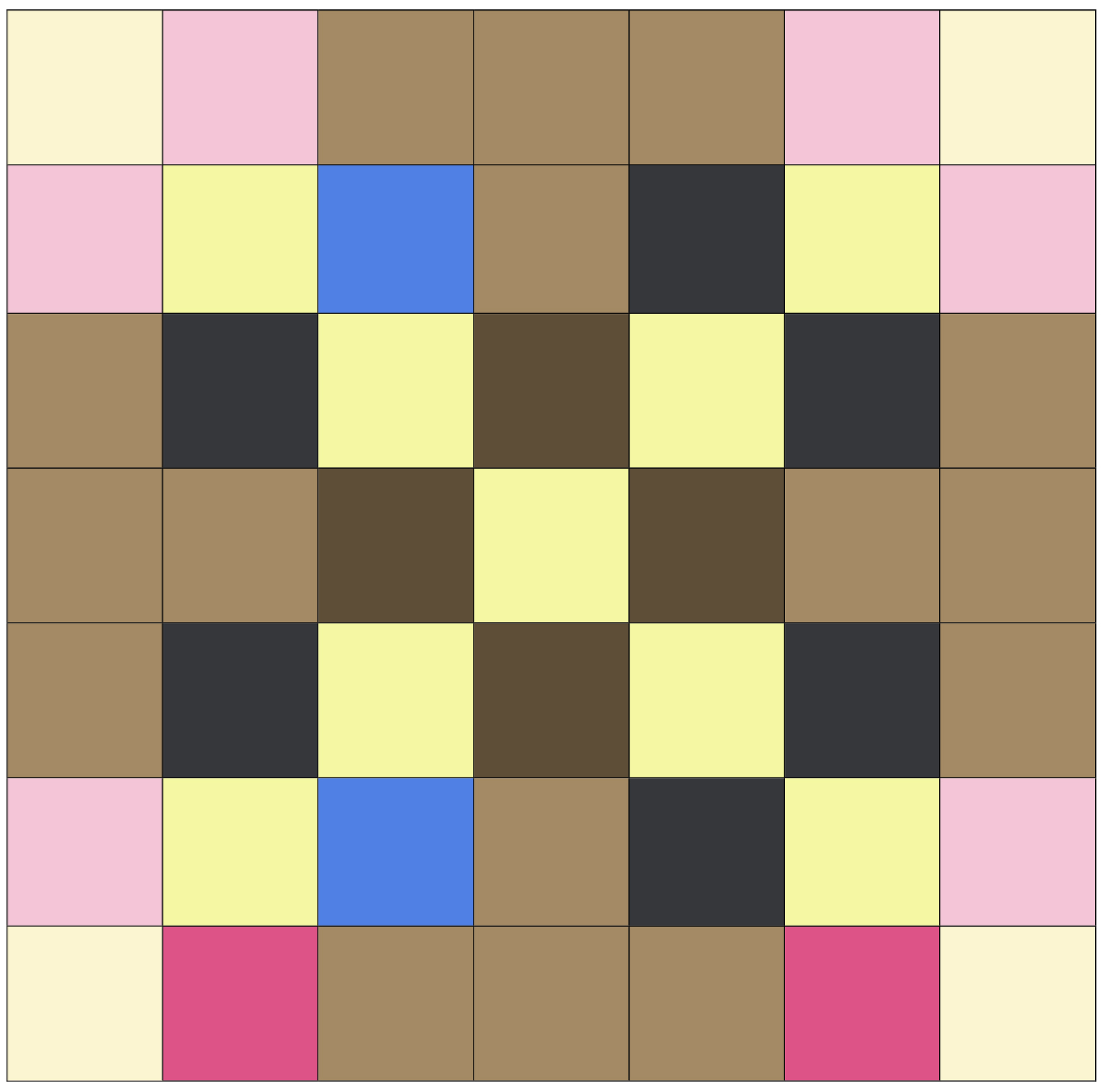 A rendering of one of the complex squares in the Dutton Quilt