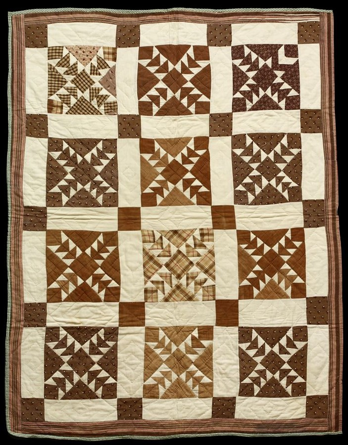 A modern Wild Goose Chase quilt