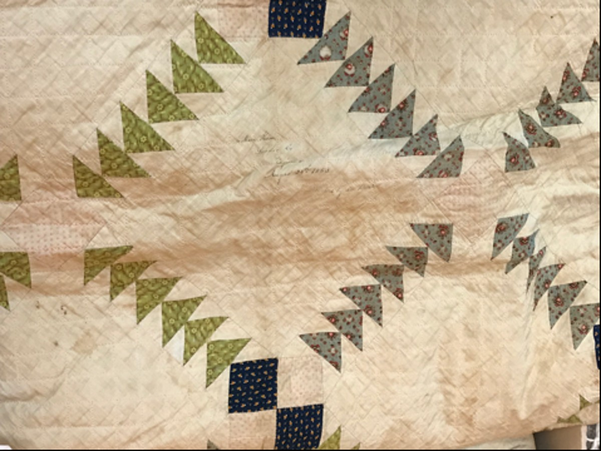 Detail from quilt in the Loudoun Museum